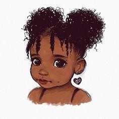 Character Design~ By Arte Afro Black Love Art, Black Girl Art, Art Girl, Black Art Painting, Black Artwork, Drawings Of Black Girls, Natural Hair Art, Black Girl Cartoon, Black Art Pictures
