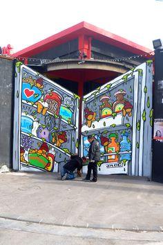 Street art by Jace, Réunion Island, France Banksy, Les Stickers, Street Art Photography, Urban Renewal, Outdoor Art, Illustrations, Street Art Graffiti, Guerrilla, Types Of Art