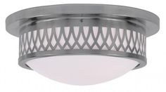 Brushed Nickel Drum Shade Flush Mount Livex Lighting http://www.amazon.com/dp/B00MOJ3XYK/ref=cm_sw_r_pi_dp_Sw4Wwb0T8598D