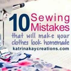 Sewing 101 - Handmade clothing is good. Clothes that look homemade-not so much. Find out the 10 sewing mistakes that will definitely give your clothes a homemade look. Sewing Hacks, Sewing Tutorials, Sewing Crafts, Sewing Tips, Sewing Basics, Sewing Blogs, Sewing Ideas, Learn Sewing, Techniques Couture
