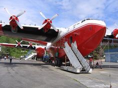 Martin Mars I have been aboard this plane. Took many pix (video) and got a first hand story by boats Flight Engineer.