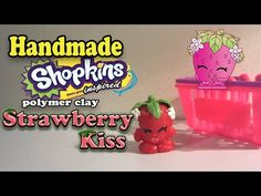 How to Make Shopkins: Strawberry Kiss Polymer Clay Tutorial! - YouTube