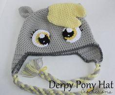 Derpy Pony Crochet Hat / Cute Silly Handmade by CrochetionsbyShell