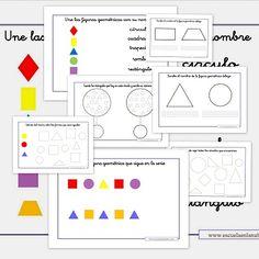 Fichas matemáticas. Ejercicios de figuras geométricas