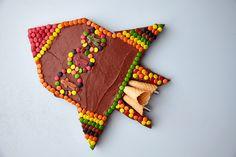 Romskip bursdagskake - Baking for alle