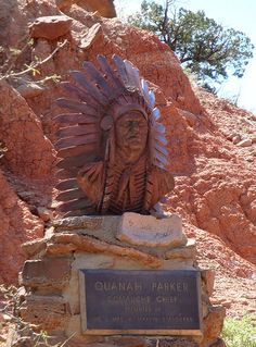 Bust of Chief Quanah Parker - Comanche Chief, Texas