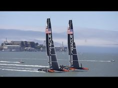 Spectacular footage! ORACLE TEAM USA - Taking On Two Boats