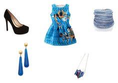 """Cute blue dress"" by marie-dedeyan on Polyvore"