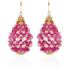 Mallary Marks Ruby Russian Dome Earrings