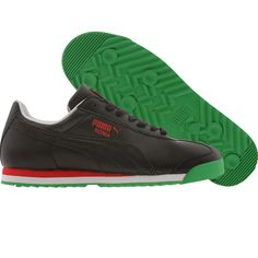 Puma Roma Games (black   red   kelly green) Shoes 354772-01 6339bf6fd