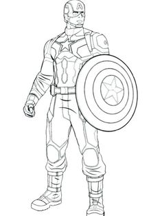 The Best of Captain America Coloring Pages. Marvel Comics are the sources of the superheroes and one of them is the Captain America. Hulk Coloring Pages, Avengers Coloring Pages, Superhero Coloring Pages, Spiderman Coloring, Marvel Coloring, Coloring Pages To Print, Coloring Sheets, Coloring Pages For Kids, Coloring Book