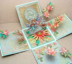 Exploding Box using Fairy Friends stamp