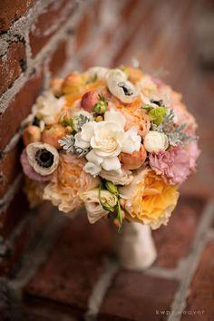 Wedding bouquet, Casa Feliz, Lee James Floral, Kristen Weaver Photography