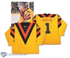 Glen Hanlon's 1978-79 Vancouver Canucks Rookie Season Game-Worn Jersey Photo-Matched! Vancouver Canucks, Goalie Mask, Hockey, Auction, Seasons, Jersey, Classic, Sports, Cards
