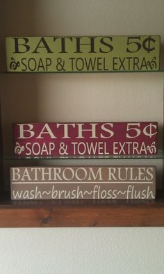 Bathroom sign diy inspiration #Christmas #thanksgiving #Holiday #quote