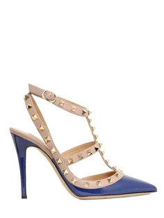 VALENTINO - 100MM PATENT LEATHER ROCKSTUD PUMPS-  beautiful.....