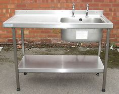 Merveilleux Sissons Stainless Steel Sink Single Large Sink With Drainer Commercial Sink