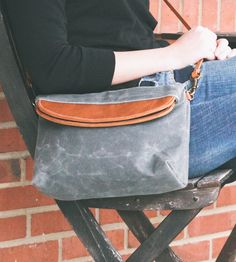 Piper Waxed Canvas & Leather Foldover Crossbody Bag