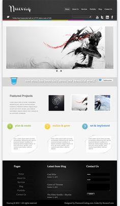 Nuevaq Portfolio Free Wordpress Theme