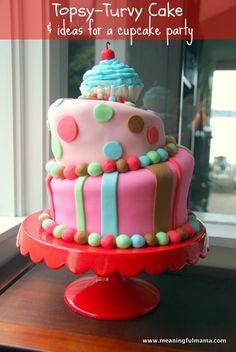 Topsy Turvy First Birthday Cake