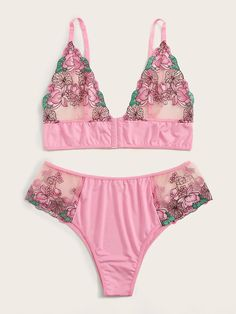 Beautiful Plus Size Intimates $10.00 Plus Size Intimates Thrilling Plus Flower Embroidery Contrast Mesh Lingerie Set $10.00 Sexy Lingerie, Pretty Lingerie, Plus Size Lingerie, Beautiful Lingerie, Lingerie Sets, Luxury Lingerie, Bra And Underwear Sets, Bra And Panty Sets, Bra Sets
