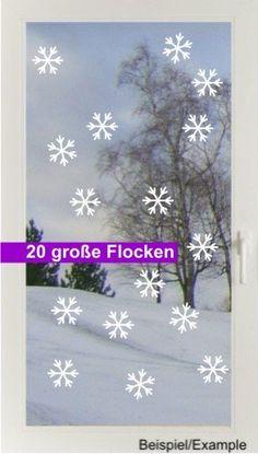 Weihnachtsdeko - Schneetreiben - Groß - Fenstertattoo - ein Designerstück von CatrinKerschl bei DaWanda