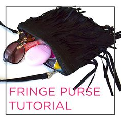 Video Tutorial by @CraftyGemini for a DIY Faux Leather Fringe Purse. Step-by-step video instructions!