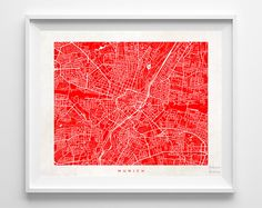 Munich Street Map Print