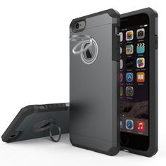 iPhone Case 7 / 6 Models - Ring Kickstand Armor Shockproof Dual Layer