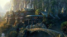 LOTR 30 day challenge Day Where would you live in Middle Earth: If I had to choose, I'd probably choose Rivendell. I fell in love with that place in the movies. It's so beautiful. The Lord, Lord Of The Rings, Fantasy Places, Fantasy World, High Fantasy, Lotr, Into The West, Fantasy Castle, Fantasy Village