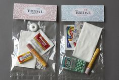 Survival kit to include in the welcome bag bride/groom