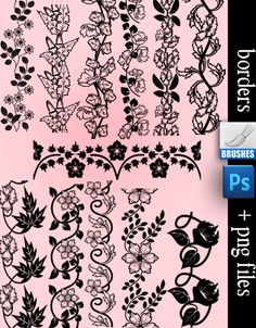 Borders Brushes by roula33
