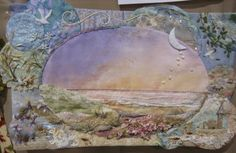 This is by Jeanne Turner McBrayer of NC and I think it is the most beautiful beach landscape I've ever seen.I just had to post it so I won't lose it and to share this lady's fabulous work. Wherever you are Jeanne, you are amazing!