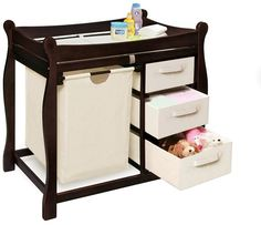 Badger basket sleigh hamper changing table