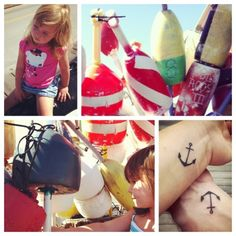 I love the placement and the simplicity of this anchor tattoo.