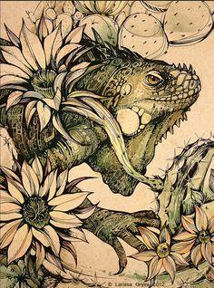 Iguana by Larissa Gryva, via Behance