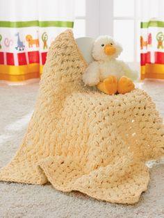 Puffy Baby Blanket | Yarn | Free Knitting Patterns | Crochet Patterns | Yarnspirations