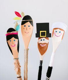 Pilgrims and Indians @AmandaRydell of Be Crafty — mini style
