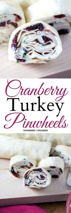 Cranberry Turkey Pinwheels by Noshing With The Nolands are terrific for picnics, parties and the lunch box. They are so easy to make!