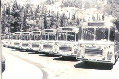 Aquí tenemos los primeros autobuses de transporte Urbano de la ciudad de Málaga, ¿ que os parece como ha evolucionado el transporte en Málaga?