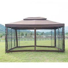 New 10 Outdoor Gazebo Steel frame Vented Garden Gazebo Canopy Gazebo Canopy, Garden Canopy, Patio Gazebo, Garden Gazebo, Garden Shrubs, Garden Beds, Rustic Pergola, Cheap Pergola, Canopies