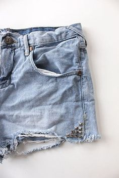Actually, you can sprinkle studs just about anywhere. | 30 New Ways To Transform Your Old Jeans
