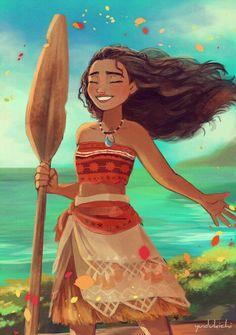 I've watched MOANA at pre-screening event! The ocean is calling. Moana Disney, Disney Pixar, Disney Films, Disney Fan Art, Disney Magic, Disney E Dreamworks, Disney Animation, Disney Characters, Tarzan
