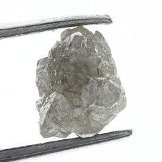 1.13 CARAT ROUGH DIAMOND OUT FROM DIAMOND MINES Silver GRay  NATURAL GEM DIAMOND