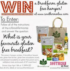 Win a Gluten Free Hamper from Brookfarm