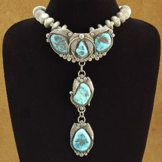 #Navajo Old Pawn Morenci #Turquoise Silver Mercury Dime #Necklace $2,000.00