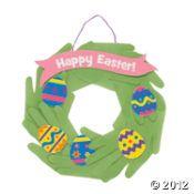 Handprint Easter Wreath