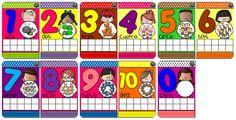 Tarjetas imprimibles números 1 al 10 Star Creando-