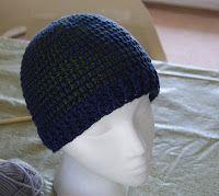 Crochet Ribbed Brim Tunisian Hat free pattern.