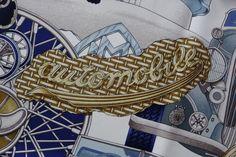 detail vintage Automobile Hermès scarf :-)